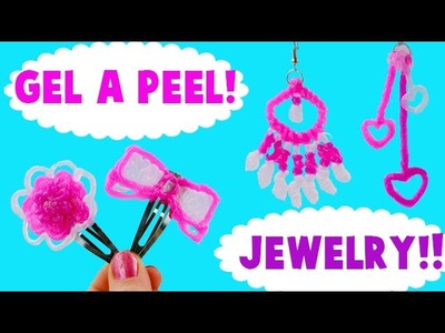 How to Make Gel A Peel Sparkle Silicone Gel Earrings and Hair Clips