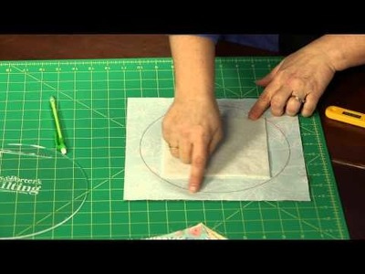 "How to Make Quilting Quickly's ""Running in Circles"" Table Runner: A 'Quilt-as-you-go' Lesson"