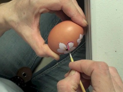 How To Paint Easter Egg With Cherry Blossom Flowers
