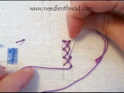 Knotted Diamond Stitch for Hand Embroidery