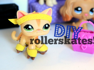 LPS DIY How to make LPS Rollerskates | DOLL DIY