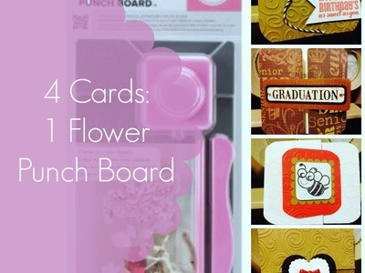 Making Cards with My Flower Punch Board by We R Memory Keepers