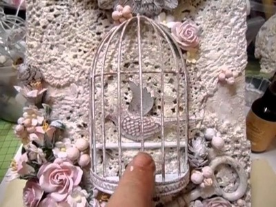 Mixed Media Altered Birdcage Wall Plaque - jennings644