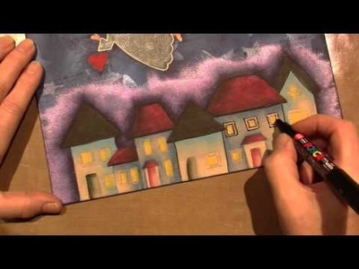 Mixed Media Angel Canvas; Part 2