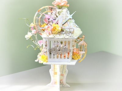 ♬ Mixed Media Shabby Chic Altered Bird Cage For SaCrafters (Start-to-Finish)