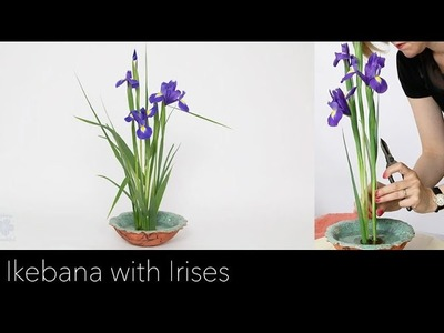 Online tutorial: Ikebana arrangement with Irises
