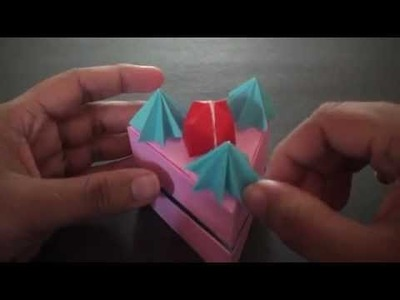 Origami Daily - 388: Strawberry Short Cake Box - TCGames [HD]
