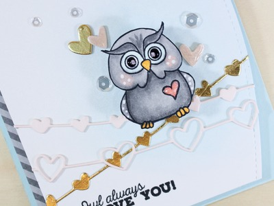 Owl Always Love You - Adding Details To Copic Coloring