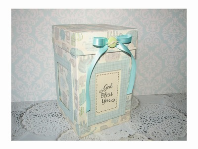 RECYCLE IDEAS: GIFT BOX WITH PICTURE FRAMES