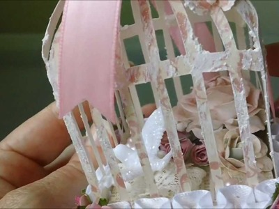 Shabby Chic 3D Birdcage - Thanks Steff and Leonie