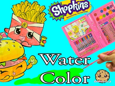 Shopkins Art Set Marker & Water Color Fast Food Picture Painting - Video Cookie Swirl C