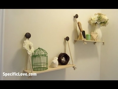 Simple Custom Hanging Shelves - How to build