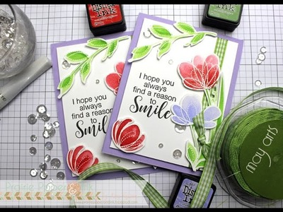 SSS Spring Flowers   Distress Ink Watercolor   AmyR Spring & Easter Card Series #6