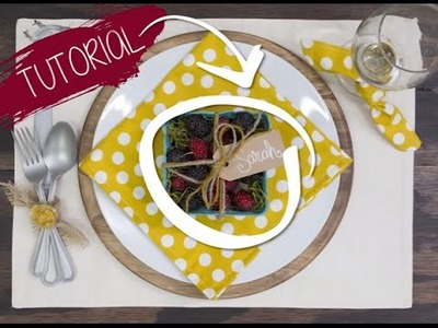 Table Setting Tutorial: Berry Basket