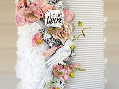 True Love Fabric Mini Album with Delaina Burns on Live with Prima