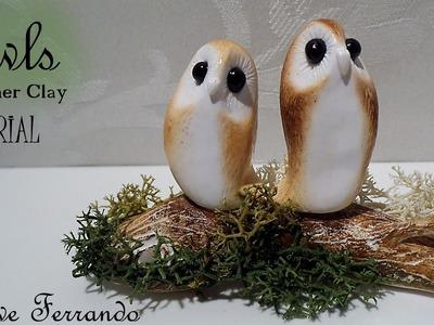 Valentine's Day Cute & Minimal Polymer Clay Love Owls Tutorial | Maive Ferrando