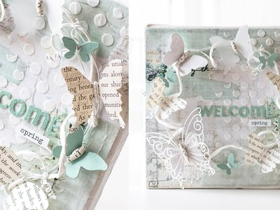 Welcome Spring Mixed Media Canvas