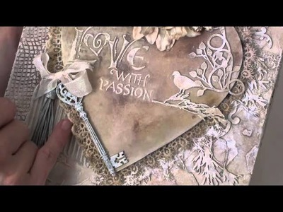 Wild Orchid Crafts - Heart Canvas