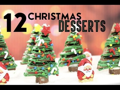 12 Christmas Desserts IN ONE VIDEO - Kit Kat Forest, Hersheys House, Cakes, Cupcakes and more!