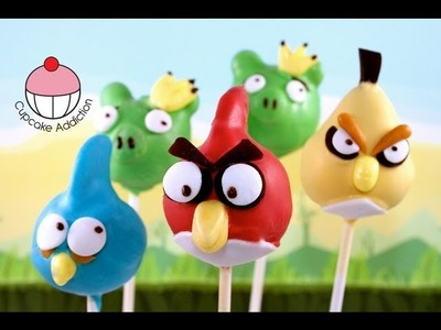 ANGRY BIRDS Cake Pops! Make Angry Birds Cake Pops -- A Cupcake Addiction Tutorial