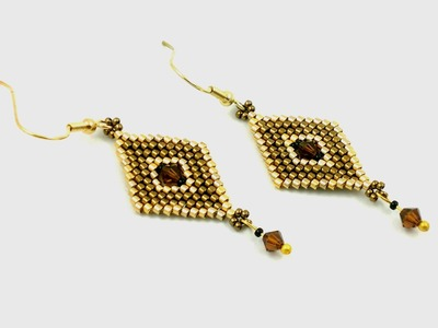 Beading4perfectionists: Increase. decrease peyote to get bicone in the middle tutorial.
