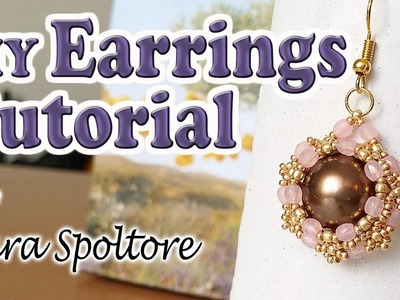 BeadsFriends: beading tutorial - DIY earrings for beginners - How to make earrings