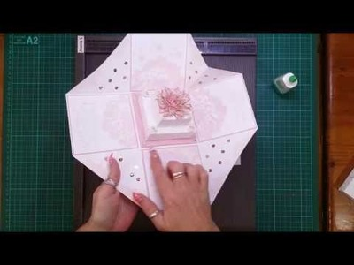 Cake tutorial for Wedding Exploding Box Card