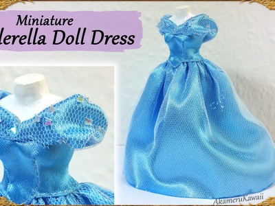 Cinderella Inspired Doll Dress - Fabric Tutorial