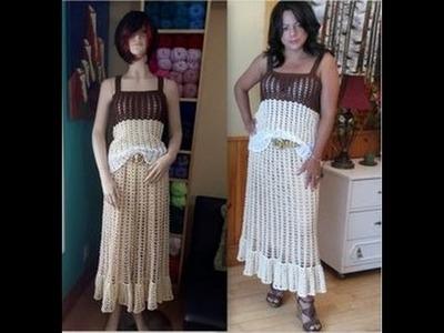 Crochet juego de falda y blusa, (La blusa) - con Ruby Stedman