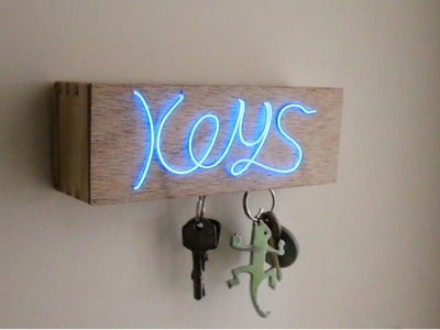 D.I.Y Illuminated Magnetic Key Holder!