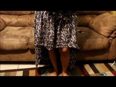 DIY: How to make high low skirt with hot glue gun