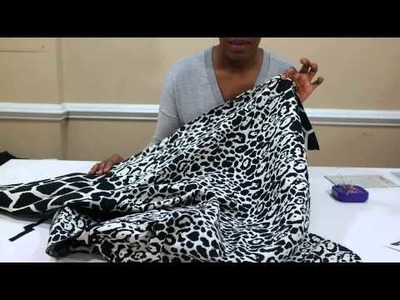 DIY Pleated Midi Skirt and Cropped Top using V8815