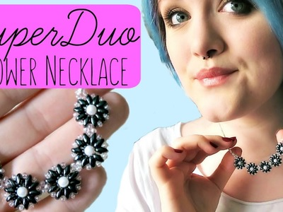 DIY Super Duo.Twin Bead Flower Necklace How to. Bead Weaving. ¦ The Corner of Craft