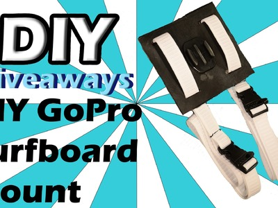 DIYgiveaways-DIY GoPro Surfboard Mount for less than $10!!!