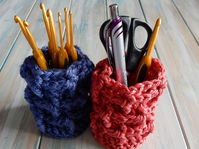 How to Crochet a Brick Stitch Pot Holder