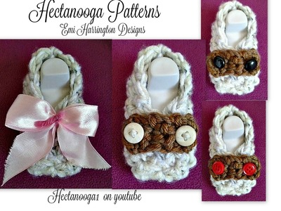 How to crochet baby loafer booties, newborn to 3 months, free pdf pattern