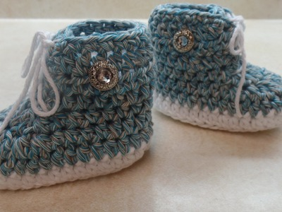 How to #Crochet #Baby Tennis #Shoe Crochet #Booties Crochet #Sneakers #TUTORIAL #312