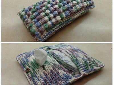 How To #Crochet Bobble Stitch Diaper & Wipe Holder Bag #TUTORIAL #311