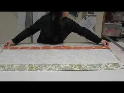 How to Make a Grommet Panel or Valance