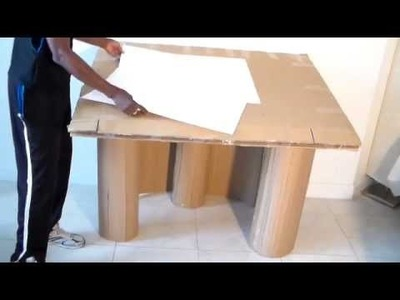 How to make Large ARTIST DESK from cardboard