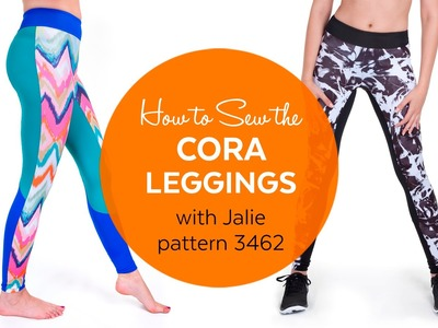 How to Sew the Cora Running Tights (Jalie pattern 3462)