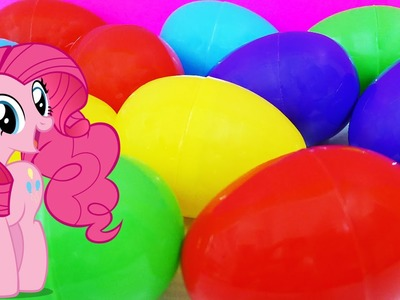 MLP Surprise Eggs My Little Pony Rainbow Dash Pinkie Pie Applejack Princess Celestia Twilight Sparkl