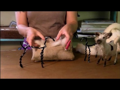 Needle Felting Tutorial - Sarafina Fiber Art Goat Series: 2 Wrapping