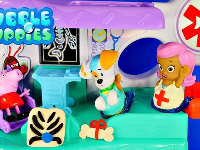 PLAY DOH Bubble Guppies Check-Up Center Peppa Pig Hospital Doctor Music and Songs Toy