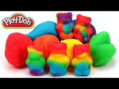 Play Doh Rainbow Gummy Bears Easy