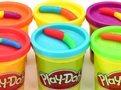 Play Doh Rainbow Gummy Worms Easy