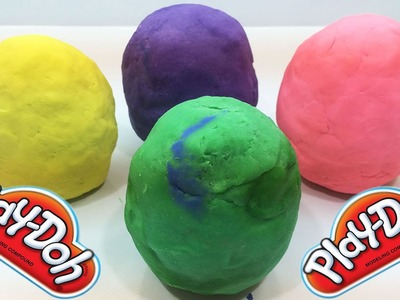 Play doh surprise rainbow eggs appear character peppa pig donald duck mickey mouse funny lego