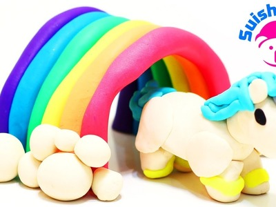 Play-Doh Unicorn Walking through a Rainbow