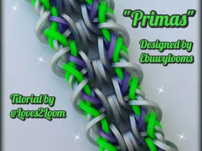 """Primas"" Hook Only Bracelet.Rainbow Loom How To"
