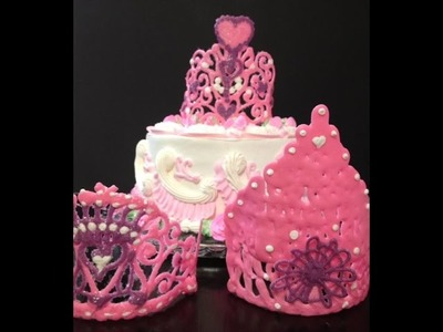 Princess Cake with Crown- Cake Decorating- How to